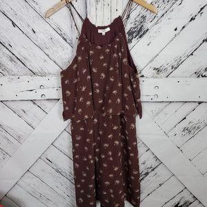 Madewell Palm Tree Silk Strappy Dress Sz 12